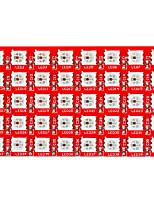 Недорогие -Киз 2812-8 * 5 привели полный цвет RGB 40 модуля фонарь (красный)