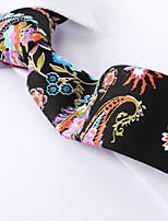 baratos -paisley preto gravatas finas de algodão