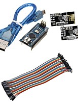 Mini Nano V3.0 ATmega328P Microcontroller Board w/USB Cable +NRF24L01, 2.4GHz Wireless Transceiver  Kit For Arduino