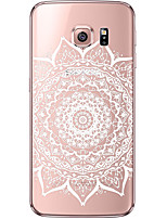 billige -For Samsung Galaxy S7 Edge Transparent Mønster Etui Bagcover Etui Mandala-mønster Blødt TPU for Samsung S7 edge S7 S6 edge plus S6 edge S6