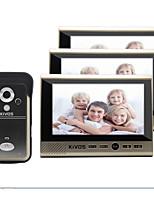 kivos doméstico campainha sem fio um com três 7 polegadas vídeo porteiro a cores câmera campainha monitoramento