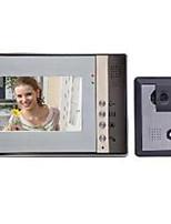 7-дюймовый ЖК-дисплей Цвет ночного видения HD видео домофон дверной звонок электрический замок управления без излучения