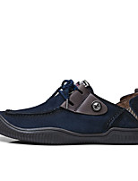 cheap -Men's Shoes Cowhide Spring Fall Comfort Sneakers For Casual Khaki Blue
