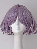 cheap -Hot Sale Light Purple Short Wave Lovely Cosplay Wigs Halloween Party Wigs