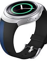 abordables -banda de deporte de reemplazo de silicona suave para el reloj inteligente de Samsung s2 engranajes (azul negro)