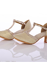 Women's Latin Breathable Mesh Heel Indoor Customized Heel Gold Customizable