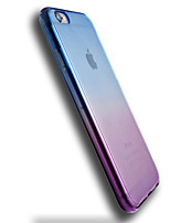 cheap -Case For Apple iPhone 6 iPhone 6 Plus Transparent Back Cover Color Gradient Soft TPU for iPhone 6s Plus iPhone 6s iPhone 6 Plus iPhone 6