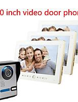10 pouces HD grand écran 700 interphone vidéo sonnette sur une villa de trois