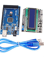 Improved Version Mega2560 Development Board + 1602 LCD Keypad Shield for Arduino