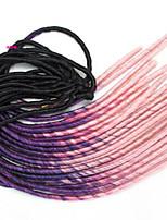Pre-loop Crochet Braids Hair Braid Crochet Ombre Braiding Hair Dreadlock Extensions 100% Kanekalon Hair Black/Green Black/Purple