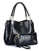Women Bags All Seasons PU Bag Set Tiered for Casual Office & Career Blue Black Red