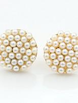 MOGE Women's Fashion Ball Ball Pearl Round Earrings