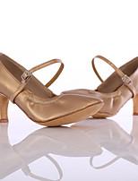 Women's Modern Leatherette Heel Indoor Customized Heel Brown Customizable
