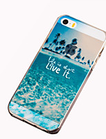 abordables -Coque Pour iPhone 5 / Apple Coque iPhone 5 Motif Coque Paysage Flexible TPU pour iPhone SE / 5s / iPhone 5