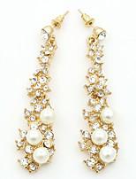 Damen Tropfen-Ohrringe Imitierte Perlen Strass Modisch Künstliche Perle Diamantimitate Aleación Geometrische Form Schmuck FürAlltag