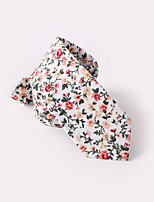 economico -bianco floreale cravatte sottili di cotone