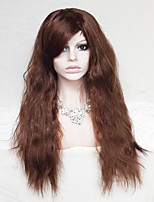 Women Synthetic Wig Capless Long Wavy Dark Auburn With Bangs Party Wig Natural Wigs Costume Wig