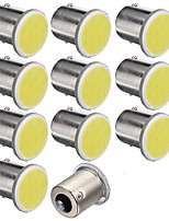 10pcs White Auto 1156 P21W Single Contact Bayonet Lamp COB LED 12SMD DC12V