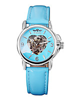 cheap -Women's Heart Design  Mechanical Watch WINNER Self-Wind Skeleton Hollow Casual  Wrist watches Cool Watches Unique Watches Fashion Watch