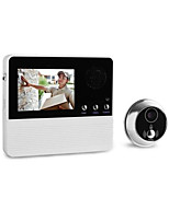 3.2-Inch Intelligent Cat's-Eye Burglar 32 Selectable Music Electronic Cat High-Resolution Color Lcd Video Doorbell