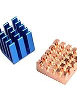 Copper Aluminium Cooling Heatsink for Raspberry Pi B+ & Raspberry Pi 2 RPi Set of 2 Heat Sinks