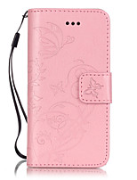 cheap -For iPhone 7 Plus PU Leather Material Butterflies Embossed Phone Case for iPhone 5/5S/5C/6/6S/6Plus/6sPlus