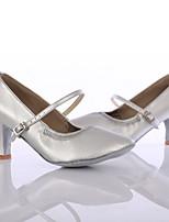 Women's Modern Leatherette Heel Indoor Customized Heel Silver Customizable