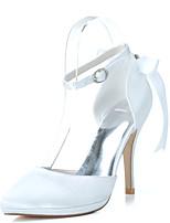 Da donna scarpe da sposa Scarpe formali Primavera Estate Raso Matrimonio Serata e festa Con diamantini Nastro A stiletto Viola Rosso Blu