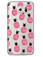 Para Samsung Galaxy S7 Edge Transparente / Estampada Capinha Capa Traseira Capinha Fruta Macia TPU SamsungS7 edge / S7 / S6 edge plus /
