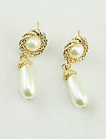 Women's Fashion Lovely Temperament Pearl Pendant Earrings