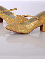 Women's Modern Glitter Leatherette Sneaker Indoor Sparkling Glitter Customized Heel Gold Customizable