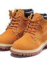 Недорогие -Девочки обувь Замша Зима Осень Модная обувь Армейские ботинки Ботинки Ботинки Назначение Повседневные Коричневый Красный Синий