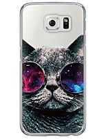 cheap -Cool Cat Pattern Soft Ultra-thin TPU Back Cover For Samsung GalaxyS7 edge/S7/S6 edge/S6 edge plus/S6/S5/S4