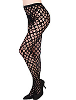 abordables -Mujer Calcetería Fino Panti Sólido 1pc Negro