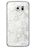 cheap -White Flower Pattern Soft Ultra-thin TPU Back Cover For Samsung GalaxyS7 edge/S7/S6 edge/S6 edge plus/S6/S5/S4