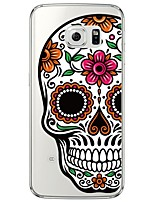 cheap -Skull Pattern Soft Ultra-thin TPU Back Cover For Samsung GalaxyS7 edge/S7/S6 edge/S6 edge plus/S6/S5/S4