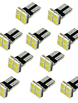 10pcs T10 5050 4SMD Advanced Bright LEDs  4-SMD White Light DC12V