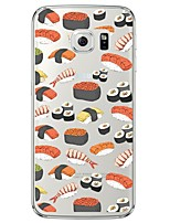 cheap -Sushi  TPU Soft  Ultra-thin Soft Back Cove for Samsung Galaxy S7 edge / S7 / S6 edge plus / S6 edge / S6 / S5/S4