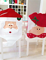 cheap -Chair Cover Christmas / Floral / Botanicals / Holiday Textile Christmas / Party / Halloween Christmas Decoration