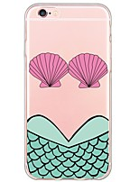 cheap -Mermaid Pattern TPU Ultra-thin Translucent Soft Back Cover for Apple iPhone 6s Plus/6 Plus/ 6s/6/ SE/5s/5