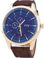 baratos -Homens Relógio Esportivo Relógio de Moda Relógio de Pulso Quartzo Preta / Azul / Laranja Legal / Analógico Casual - Café Azul Vermelho Escuro