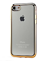 abordables -Para iPhone X iPhone 8 iPhone 7 iPhone 6 iPhone 6 Plus Funda iPhone 5 Carcasa Funda Cromado Transparente Cubierta Trasera Funda Color