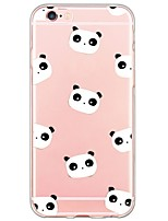 cheap -Panda Pattern TPU Ultra-thin Translucent Soft Back Cover for Apple iPhone 6s Plus/6 Plus/ 6s/6/ SE/5s/5