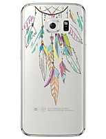 cheap -Feathers Necklace Pattern Soft Ultra-thin TPU Back Cover For Samsung GalaxyS7 edge/S7/S6 edge/S6 edge plus/S6/S5/S4