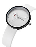 Homens Mulheres Relógio Casual Relógio de Moda Relógio de Pulso Chinês Quartzo Impermeável Couro Banda Vintage Casual Elegant Preta Branco