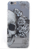cheap -Skull Pattern Painted Transparent TPU Material Phone Case for iPhone 5c/5/5S/SE/6/6S/6 Plus/6S Plus