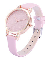 Women's Casual Watch Fashion Watch Wrist watch Chinese Quartz Casual Watch Leather Band Casual Elegant Black White Grey Pink