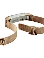Недорогие -Черный / Золотистый / Серебристый Нержавеющая сталь / Металл Миланский ремешок Для Fitbit Смотреть 10mm