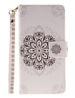 cheap -Painted Datura Flowers Pattern Card Can Lanyard PU Phone Case For Samsung Galaxy G530 G360 J1 J3 J5 (2016)