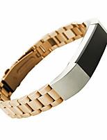 abordables -Negro / Dorado / Plata Acero Inoxidable / Metal Correa Deportiva / Hebilla Moderna Para Fitbit Reloj 10mm